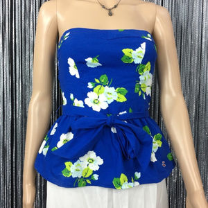NWT Hollister Blue Floral Sleeveless Top